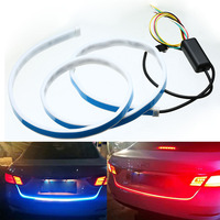 Mayitr Dual Color Flow Type Flowing LED Strip Light Car Trunk DRL Side Turn Signal Rear