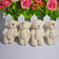 5 Pcs 6 cm 2017 New Kawaii Small Teddy Bears Plush Soft Toys Pearl Velvet Teddy Dolls Children Girlfriend Gifts Wedding Bouquet