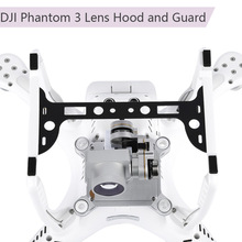 2 IN 1 Camera Lens Hood Sun shade Carbon Fiber Gimbal Guard for DJI Phantom 3 Drone Spare Parts Camera Stabilizer Protector