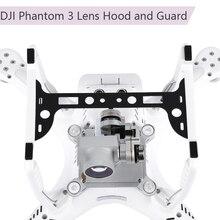 2 em 1 lente da câmera capa sun sombra cardan de fibra carbono guarda para dji fantasma 3 drone peças reposição câmera estabilizador protetor