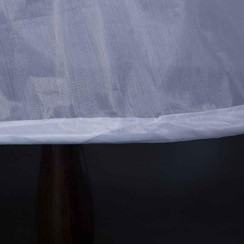 Blume Mädchen 2 Hoops Weiß Unterrock 65cm Hochzeit Petticoat Kinder Elastische Taille Kordelzug Einem Schicht Krinoline Halb Slip
