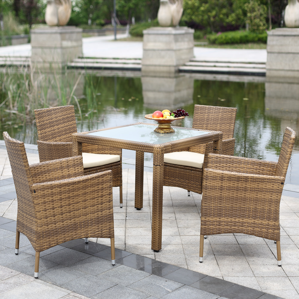 Patio furniture set promotion shop for promotional patio for Jardin wicker