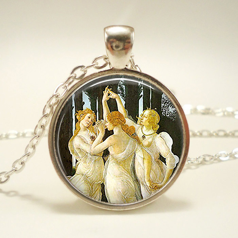 Family Decor World Map Pendant Necklace Cabochon Glass Vintage Bronze Chain Necklace Jewelry Handmade