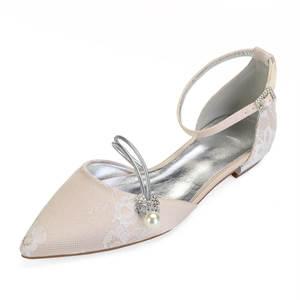 15f2357d6 Creativesugar pointed toe lady flat lace shoes flats