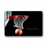 Basketball Hoop Background Doormat/Gate Pad Outdoors/Indoor Bathroom Kitchen Decor Area Rug/Floor Mat 18 x 30 Inch