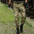 Anti-Scratch Calças Da Carga Dos Homens Multi-bolsos Camuflagem Selva Militar IX7 calças Táticas Calças #170215