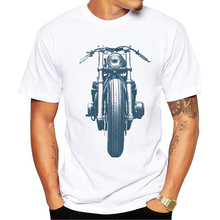 TEEHEART Summer Fashion Blaster Cafe Racer Design T Shirt Men's High Quality Retro Motorcycle Tops Hipster Tees PB197