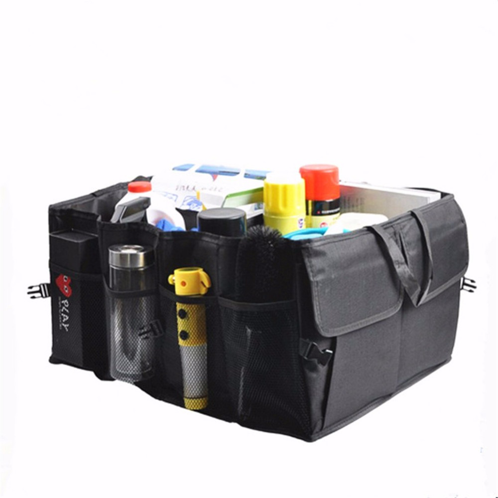 auto trunk organizer collapsible storage box durable and foldable storage bag cargo container. Black Bedroom Furniture Sets. Home Design Ideas