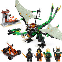 618pcs Ninjagoed Flying Green Dragon Building Blocks Bricks Toys Model Action Figures Toys Gifts Compatible With Famous Brand