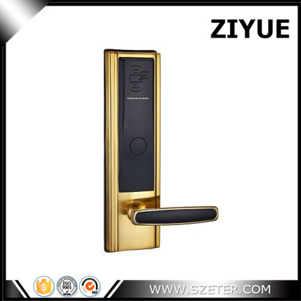 High Class Digital Electronic RFID Card Hotel Door Handle Locks with Master Card Key Options ET820RF digital electric best rfid hotel electronic door lock for flat apartment