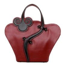National Women Bag Pu Handbags Fashion Single Shell Zipper Crossbody Shoulder Bags Luxury Floral Messenger Bag Large Clutch B16