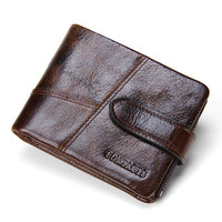 New Luxury Genuine Leather Mens Wallet Man Zipper Short Coin Purse Brand Male Cowhide Credit Wallet Multifunction Small Wallets