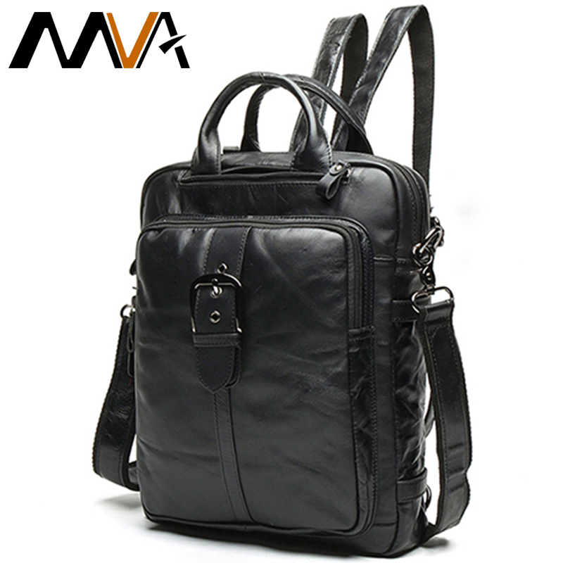 MVA Genuine Leather Men Backpacks Travel Laptop Backpack Men Vintage Laptop back Bag School Bag For