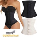 2016 New Hot Body Shaper Underbust Waist Trainer Corset Waist Trainer Latex 4 Spiral Steel Boned Women Waist Cincher Shapewear