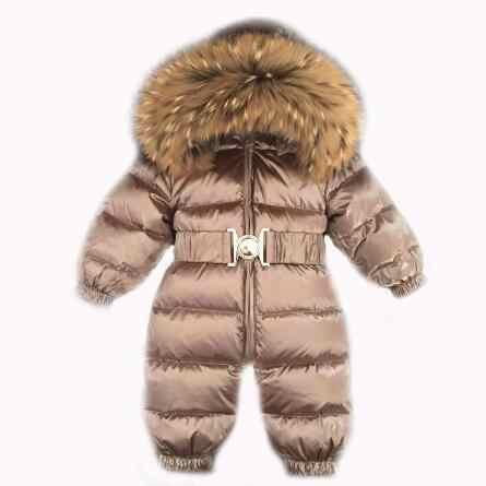 Зимние куртки-пуховики для детей комбинезон для детей на -30 теплое пуховое  пальто от bcffded1127