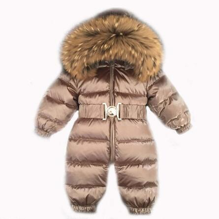 Russia Winter 30 jumpsuit kids winter snowsuit 12M 4T Baby jumpsuit Down Jackets warm overall down