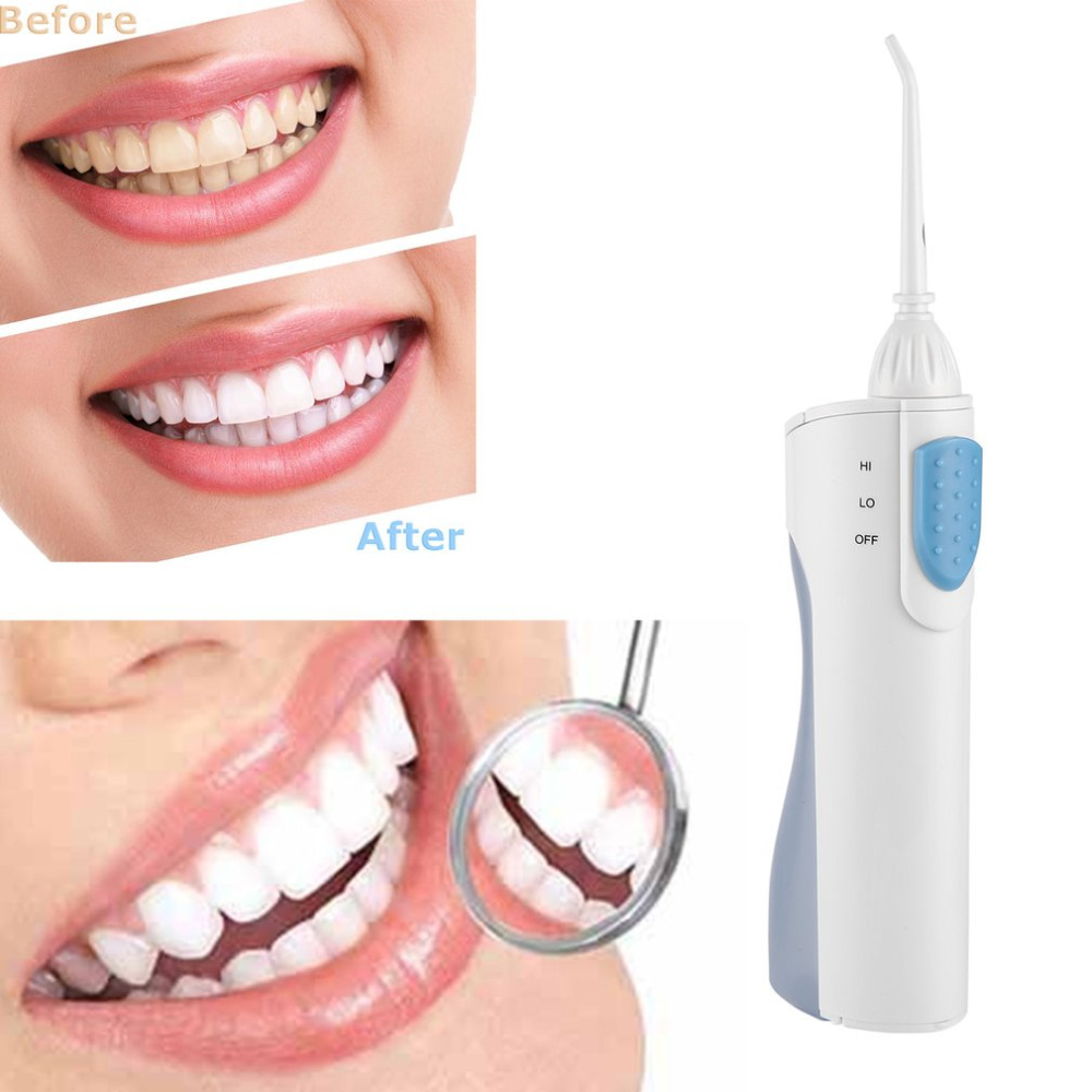 Portable Oral Irrigator Dental Flosser Water Jet Power Flosser Dental Irrigator Implements Dental Cleaner Remove Decay 100pcs water flosser flycat fc168 oral irrigator 600ml tank 8pcs jet tips dental flosser power water jet protable oral deep
