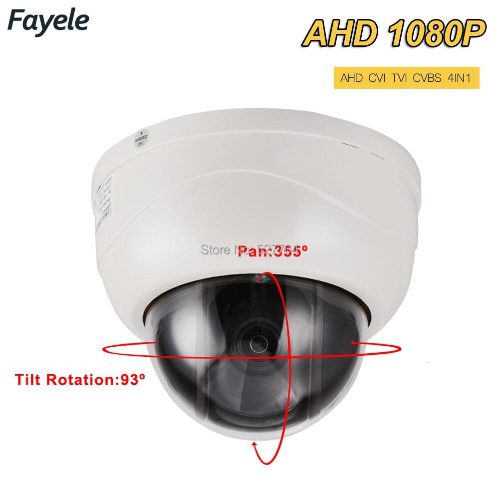 CCTV Intérieur 1080 P 2.5 MINI Dôme PTZ Caméra SONY IMX323 AHD TVI CVI CVBS 4IN1 2MP Pan Tilt 4X Zoom Jour Nuit IR 40 M OSD MENU