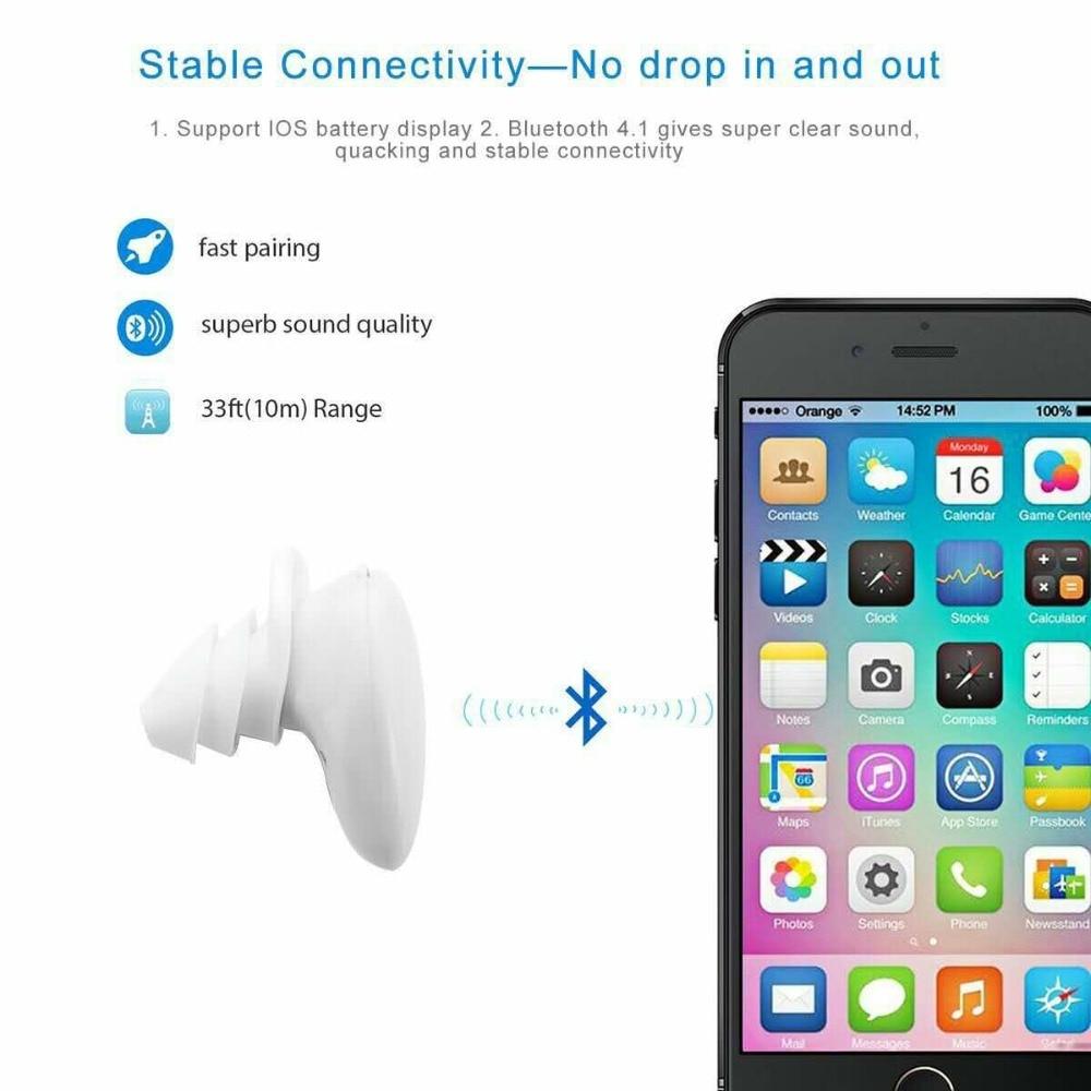 SERVO TWS B02 Bluetooth Wireless Twins Earphones Earbuds Headset with charging box Microphone for iPhone 7 Samsung Huawei Xiaomi