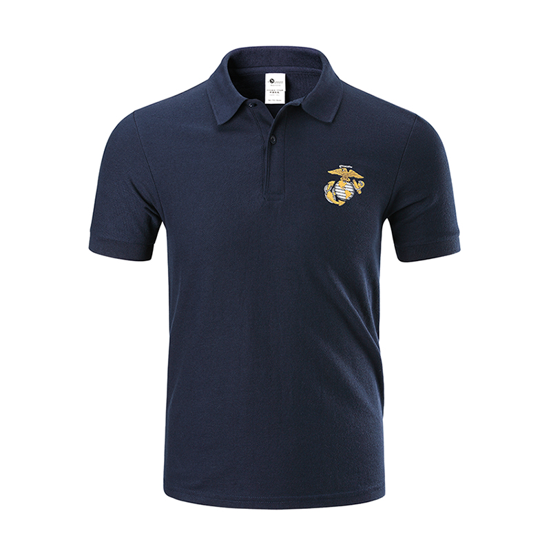Casual Tactical Military   Polo   Shirt Men Army Style US Marine Corps Shirt Fashion Cotton Short Sleeve Breathable   Polo   Male Top