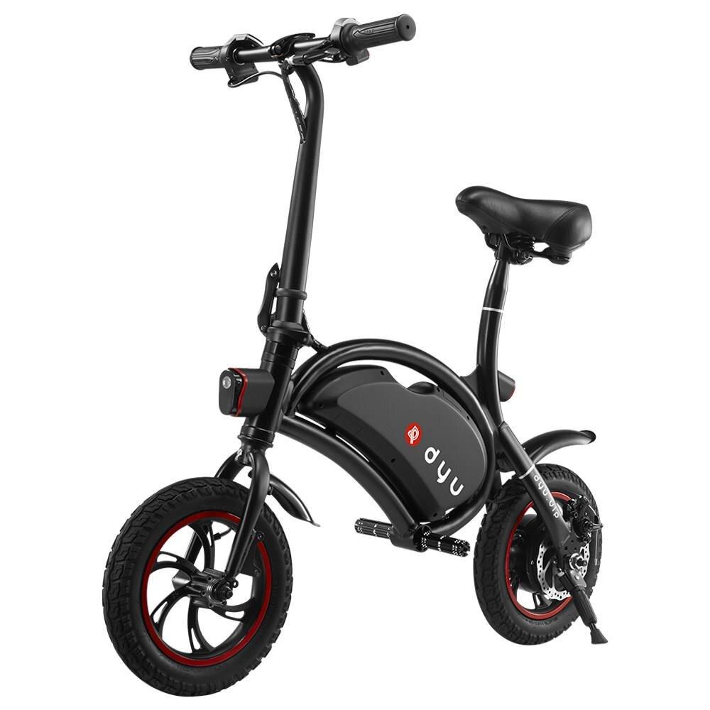 Standard F-roue D1 DYU vélo électrique Pliant Conception Smart Contrôle 12 Pouces Roues 20 km/h charge maximale 120 kg vs xiaomi pour adulte