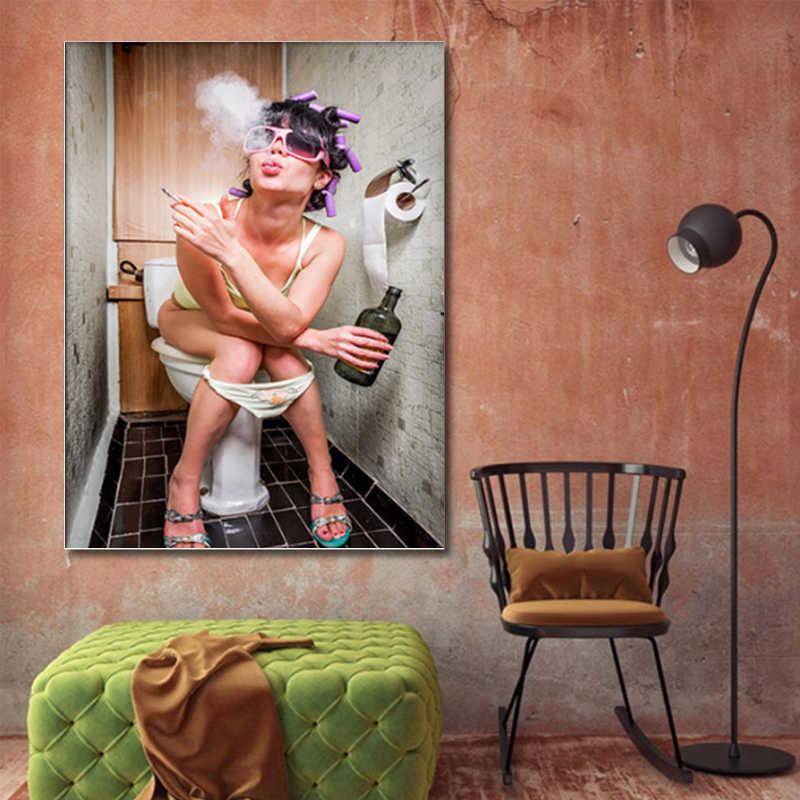 LZN скандинавские современные туалеты сексуальные женские Бар Ванная комната украшение дома Холст Картина на стену красота плакат модель поп