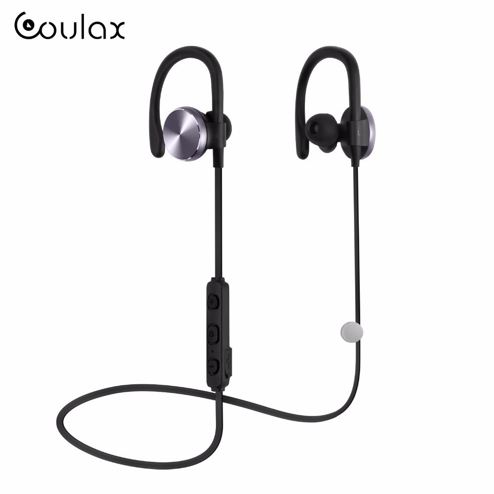 COULAX Bluetooth Headphones Wireless with Microphone V4.1 Wireless Headset  Stereo Bluetooth Earphone for iPhone Android PC CX06 remax 2 in1 mini bluetooth 4 0 headphones usb car charger dock wireless car headset bluetooth earphone for iphone 7 6s android