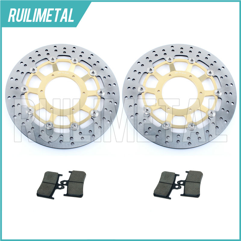 High Quality New Front Brake Discs Rotors + Pads Set for HONDA CB 900 F HORNET 919 02 03 04 05 06 2002 2003 2004 2005 2006 round new front brake discs rotors fit for honda cb f hornet 599 600 00 01 02 03 04 05 06 s f2 600 00 01 02 03 04