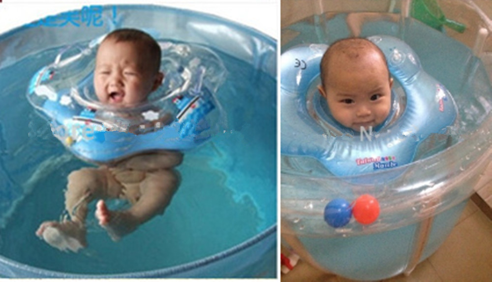 Baby Bath Toys Baby Swimming Neck Float Ring Inflatable Infant ...