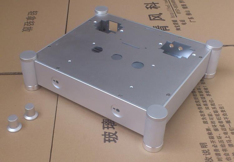 Boîtier en aluminium/boîtier d'ampli de tube/boîte de préampli/châssis de PSU pour le tube