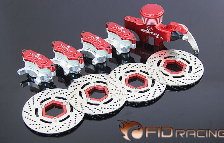 4 wheel hydraulic brake set for Baja 5B.SS 5T(red color) main pump combination for gtb 4 wheel hydraulic brake set fit for 1 5 rc car hpi baja 5b ss