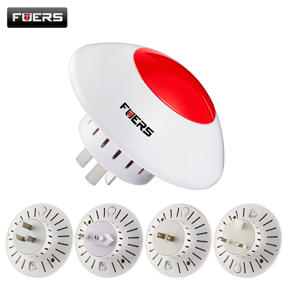 Fuers Wireless Alarm Flash Horn Wireless Flashing Siren Red Light Strobe Siren 433MHz Suit For KERUI Alarm System Wireless Siren цена и фото