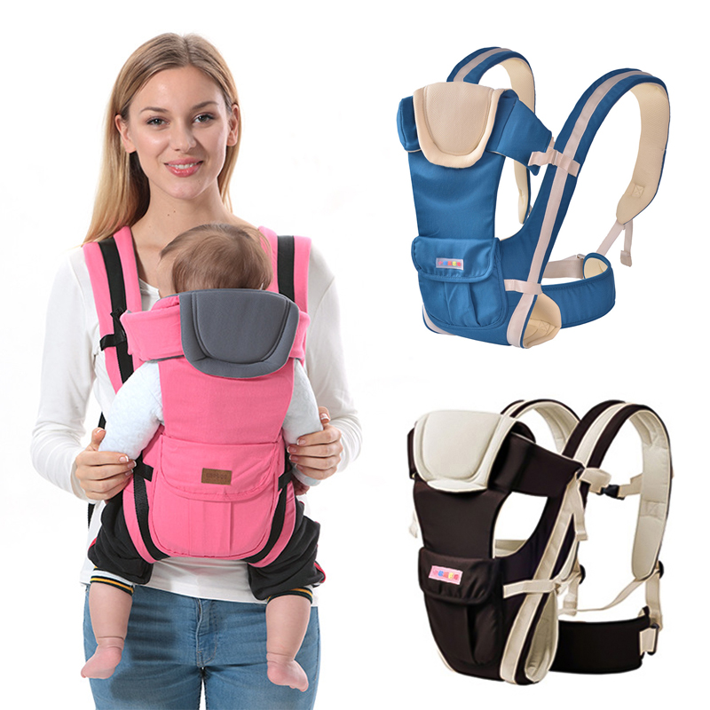 Ergonomic Baby Carriers Backpacks 6-36 Months Portable Baby Sling Wrap Cotton Infant Newborn Baby Carrying Belt for Mom Dad(China)