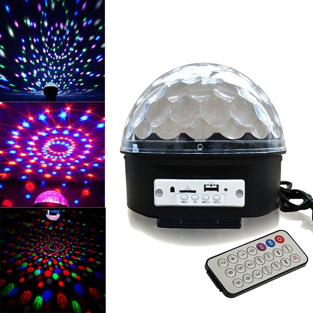 LumiParty 9 Color LED Crystal Magic Strobe Light Stage Effect Lights RGB Crystal Rotating Magic Ball Light For Party Wedding blooming bouquet rose 9 flowers magic tricks for lover stage wedding party illusion comedy mentalism