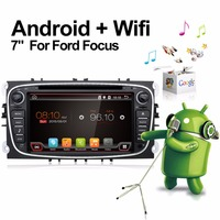 1024 600 Android 6 0 Black Two Din 7 Inch Car DVD Player For FORD Mondeo