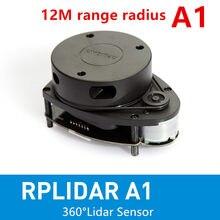 Slamtec rplidar scanner a1 2d 360 graus 12 metros, sensor lidar de rádio para robô navigates e evitar obstáculos
