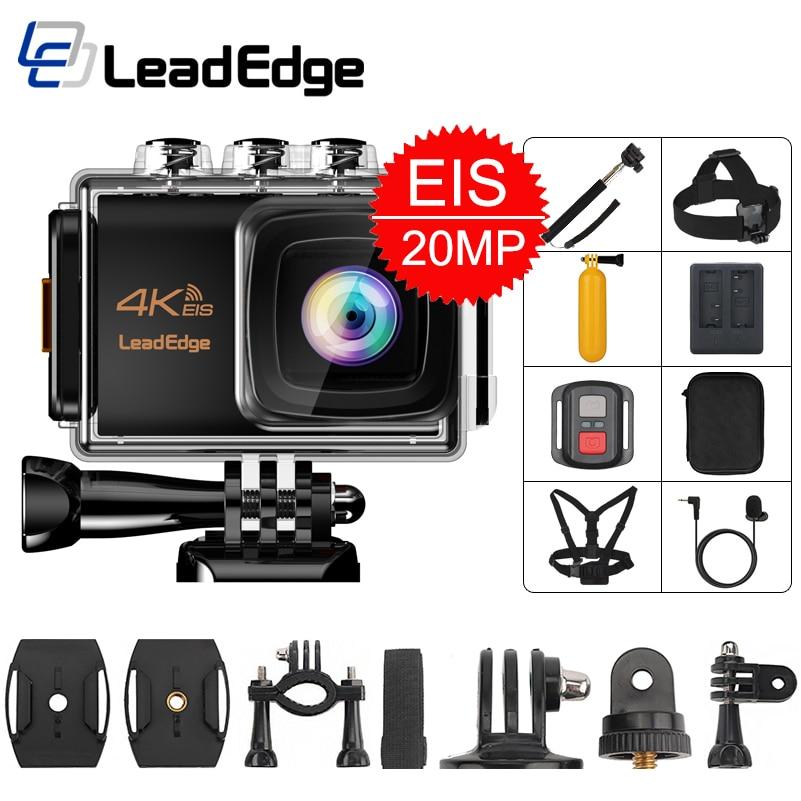 Leadedge Helmet Cam Action-Camera 20MP EIS Waterproof External 4k 30fps LCD