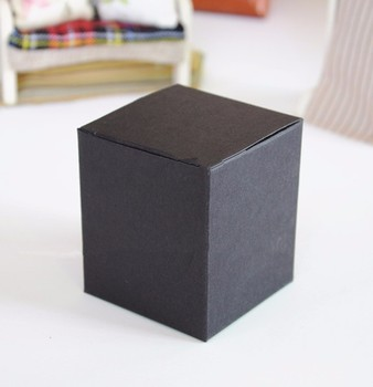 9*9*9cm Black Paper Boxes Cosmetic Cream Jar Bottle Packaging Box Blank Gift Paper Box 200pcs\lot Free shipping