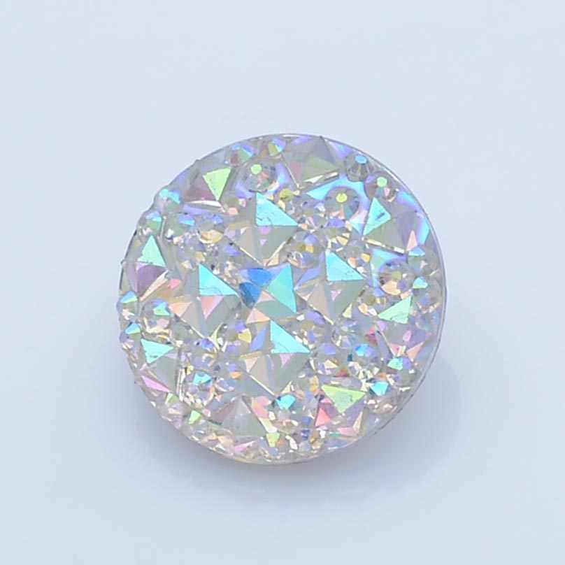 18 مللي متر أزرار إطباقية الزجاج الملونة ل يستقر أساور صالح الزنجبيل يستقر مجوهرات CN0145