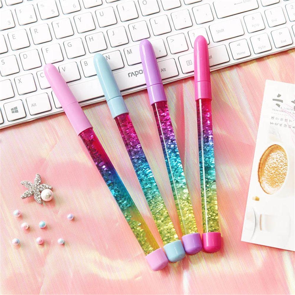 1 шт. 0,5 мм радужные шариковые ручки, шариковая ручка с синими чернилами для детей, Офисная сказочная ручка, школьные принадлежности, дрифт, п...