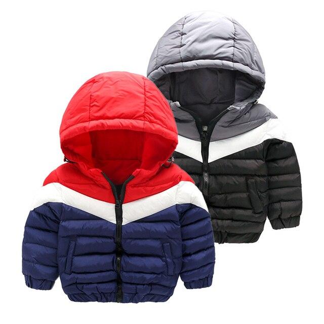 Мальчик ватник толщиной пиджаки зима теплая куртка с капюшоном зима