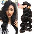 Peruana Virgin Hair Body Wave 3 Bundles Peruano de la Onda Del Cuerpo 8a Grado Incomparable de la Armadura Del Pelo Humano Sin Procesar Virgen Cabello ishow