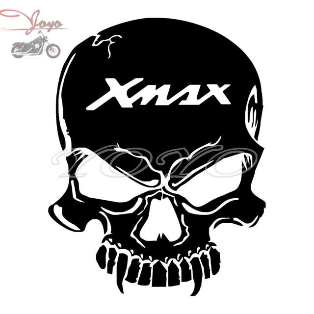 Gratis pengiriman xmax logo tengkorak adhesive sticker fender decal stiker tangki bahan bakar untuk yp125 yp250