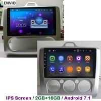 Lenvio 2 г оперативная память Android 7,1 Автомобильная dvd навигационная система плеер для Ford Focus 2006 2007 2008 2009 2010 2011 радио головное устройство DAB ips