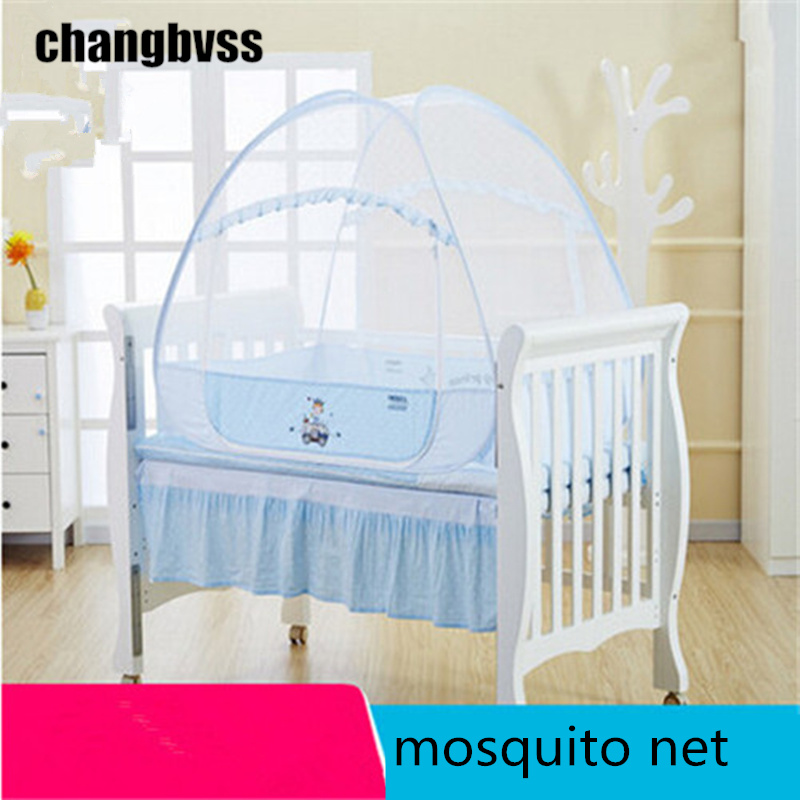Potable Mosquito Net for Baby Crib Multi Function Baby Bed Canopy Foldable Infant Baby Crib Mosquito Netting tenda infantil esspero canopy