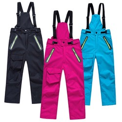 Brand Warm Climbing Trousers Children Outerwear Sporty Ski Suit Waterproof Windproof Boys Girls Pants For 3-14 Years Old