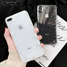 LACK Clear Glitter Powder Star Soft Cases For iphon