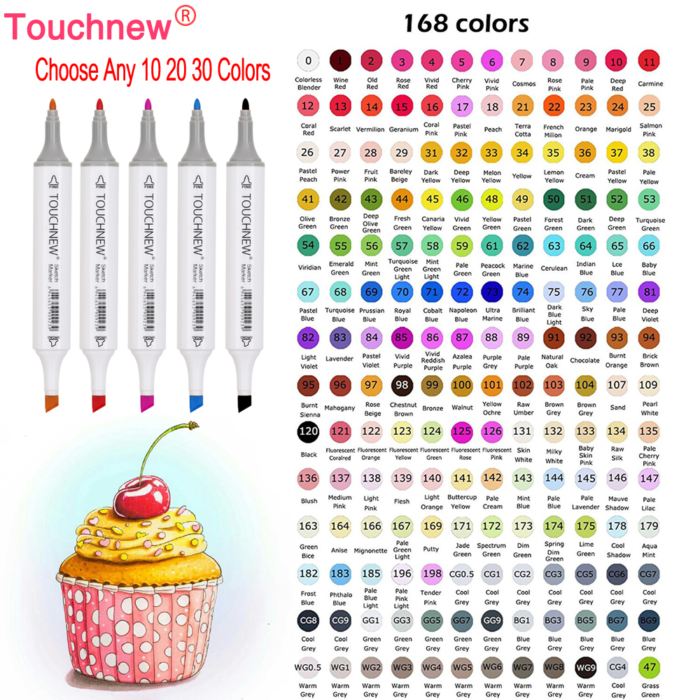 TOUCHNEW Choose Any 10/20/30 Colors Dual Head Alcohol
