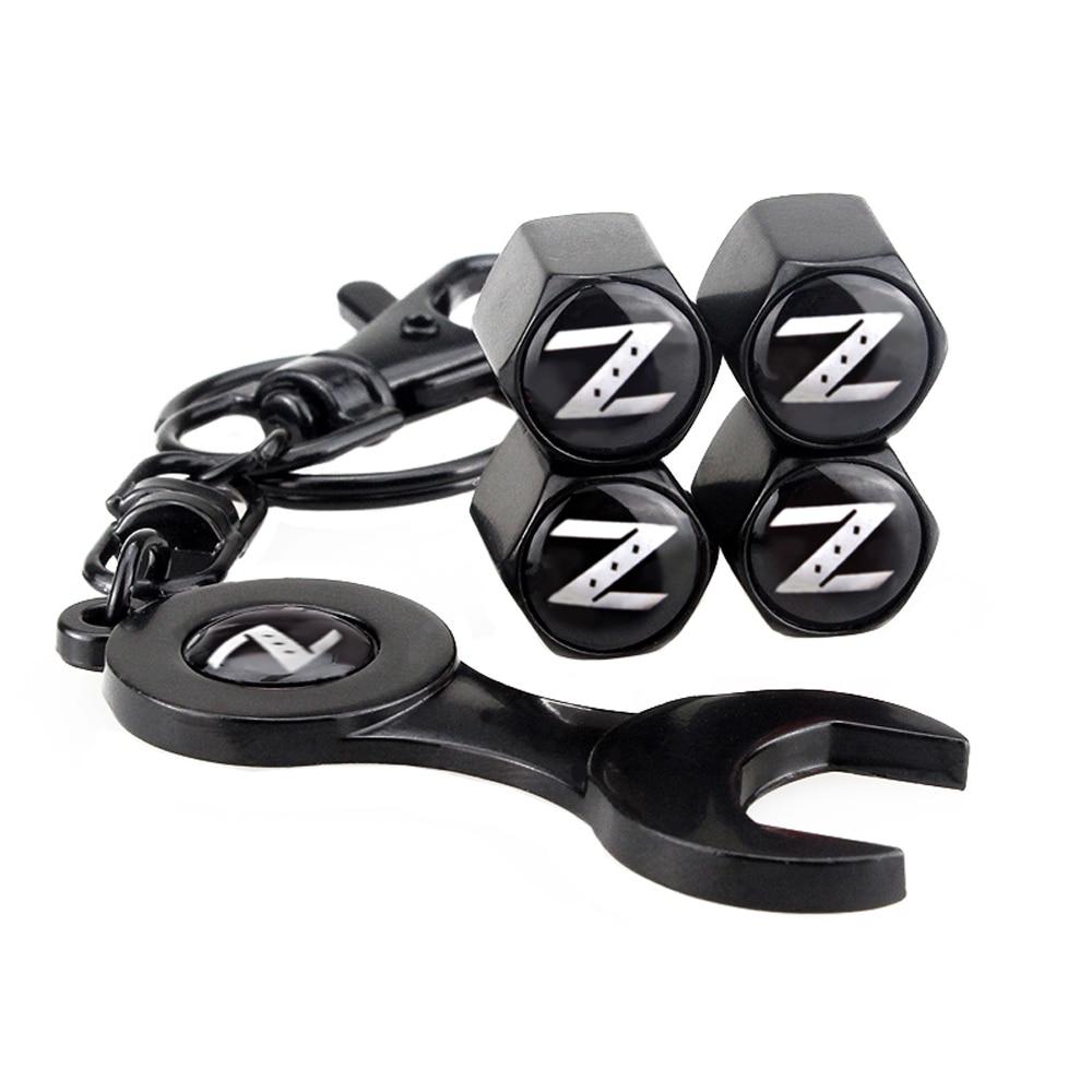 Car Styling Auto Wheel Tire Valve Stems Caps Keychain For Z Logo For Nissan 350-z 370z Qashqai Leaf Murano Skyline Sentra Juke