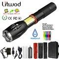 Litwod Z201005A Многофункциональный светодиодный фонарик, 8000 лм, CREE, COB, с магнитом, для езды на велосипеде